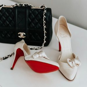 Christian Louboutin Nude Heels Red Bottoms D'Orsay